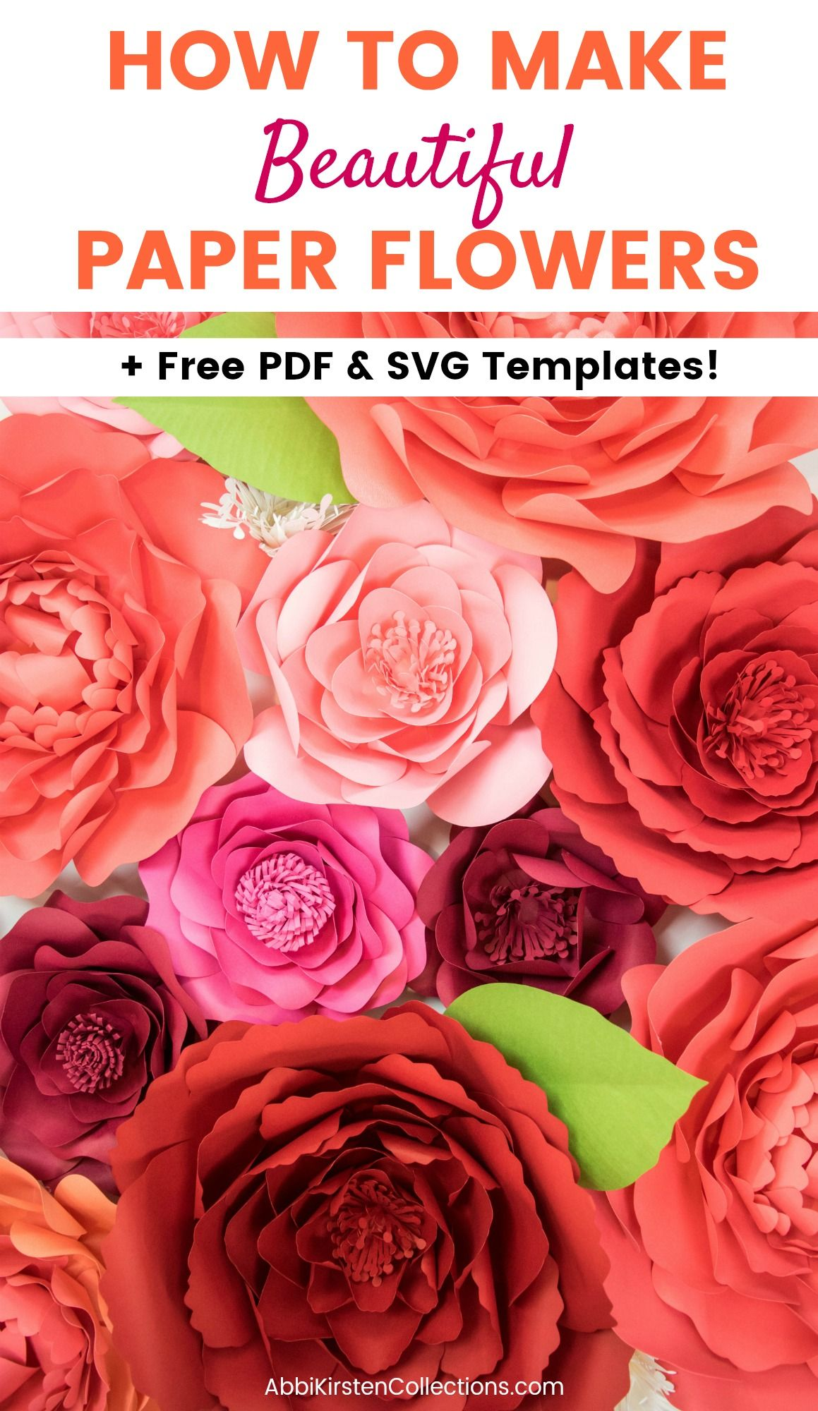 Free Paper Flower Templates How To Make Giant Poppy Paper Flowers