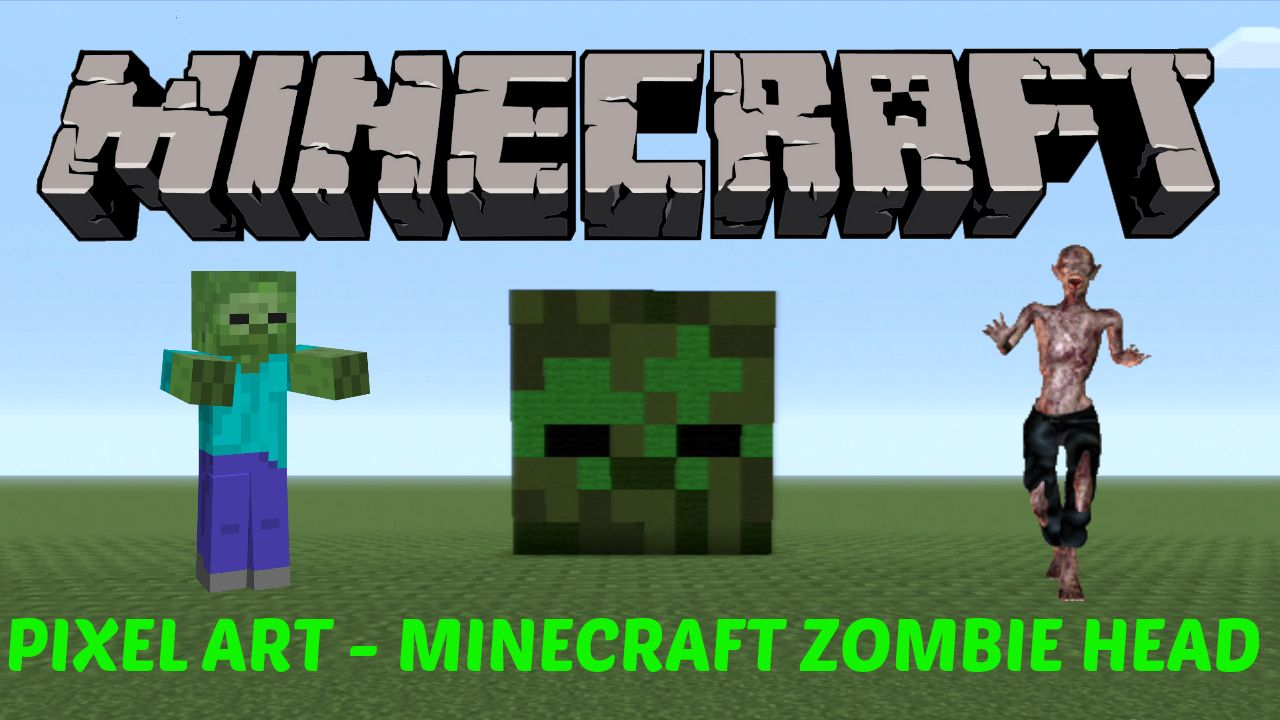 37. Learn how to make a Minecraft Zombie Head in MINECRAFT! Click on the image to see the video :D