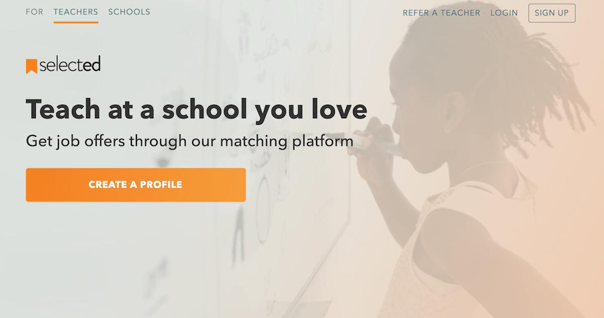 Get teaching job offers through our matching platform