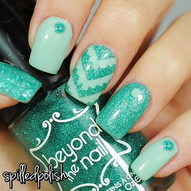 Mint Aztec Nails. #notd #nailart #indiepolish | Nail Art Galleries ...