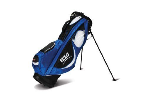 Izzo Golf Geo Lightweight Stand Bag (Blue) by Izzo. $109.99. The Izzo Golf Geo is a great economical lightweight bag with all the features you need. It features Ionetix Dual Straps and a 7-way organizational top with full-length dividers. The apparel pocket is full length. Weighs just 4.5 lbs.