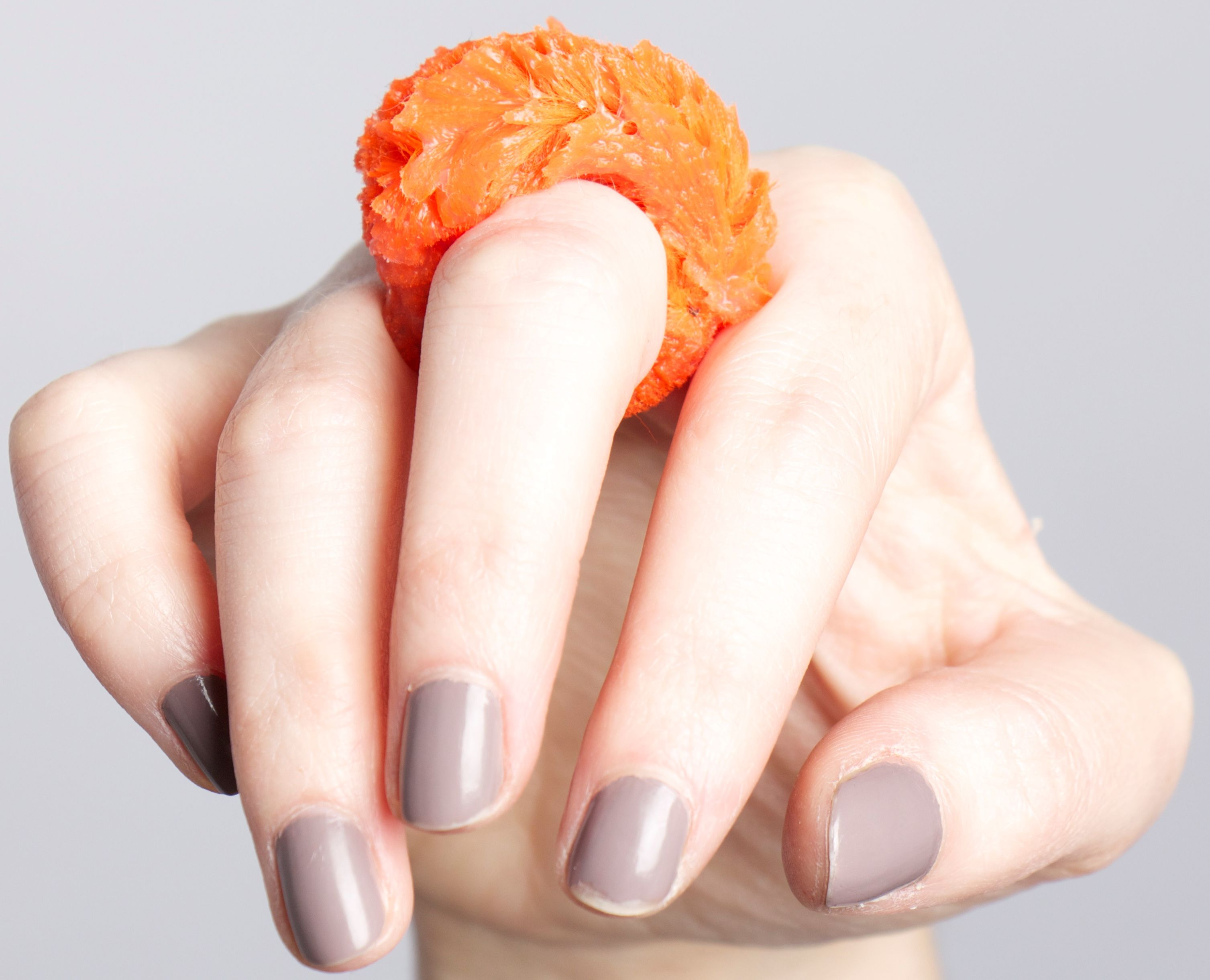 Ring by Gemma Jay, 2014. Silicone and pipe-cleaner. UCA Rochester BA(Hons) Contemporary Jewellery.