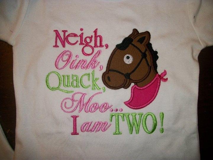Custom Boutique Birthday T Shirt Farm Animals Barn Party Cow Horse One Two Three Pig Chicken 1st 2nd First Girls Boys Tee Onesie 2500 Via Etsy
