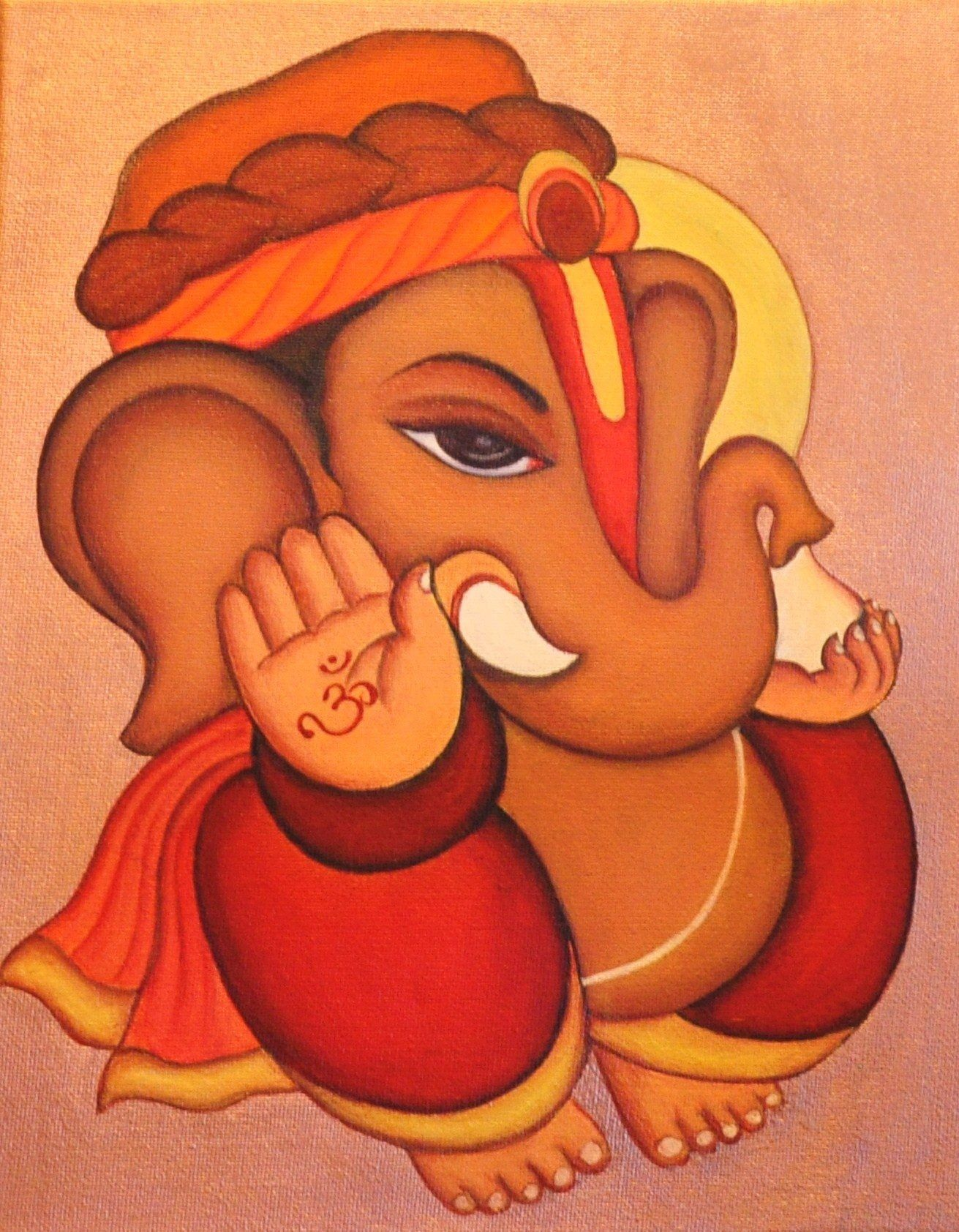Ganesha painting........m | Sri Ganesh Art | Pinterest ...
