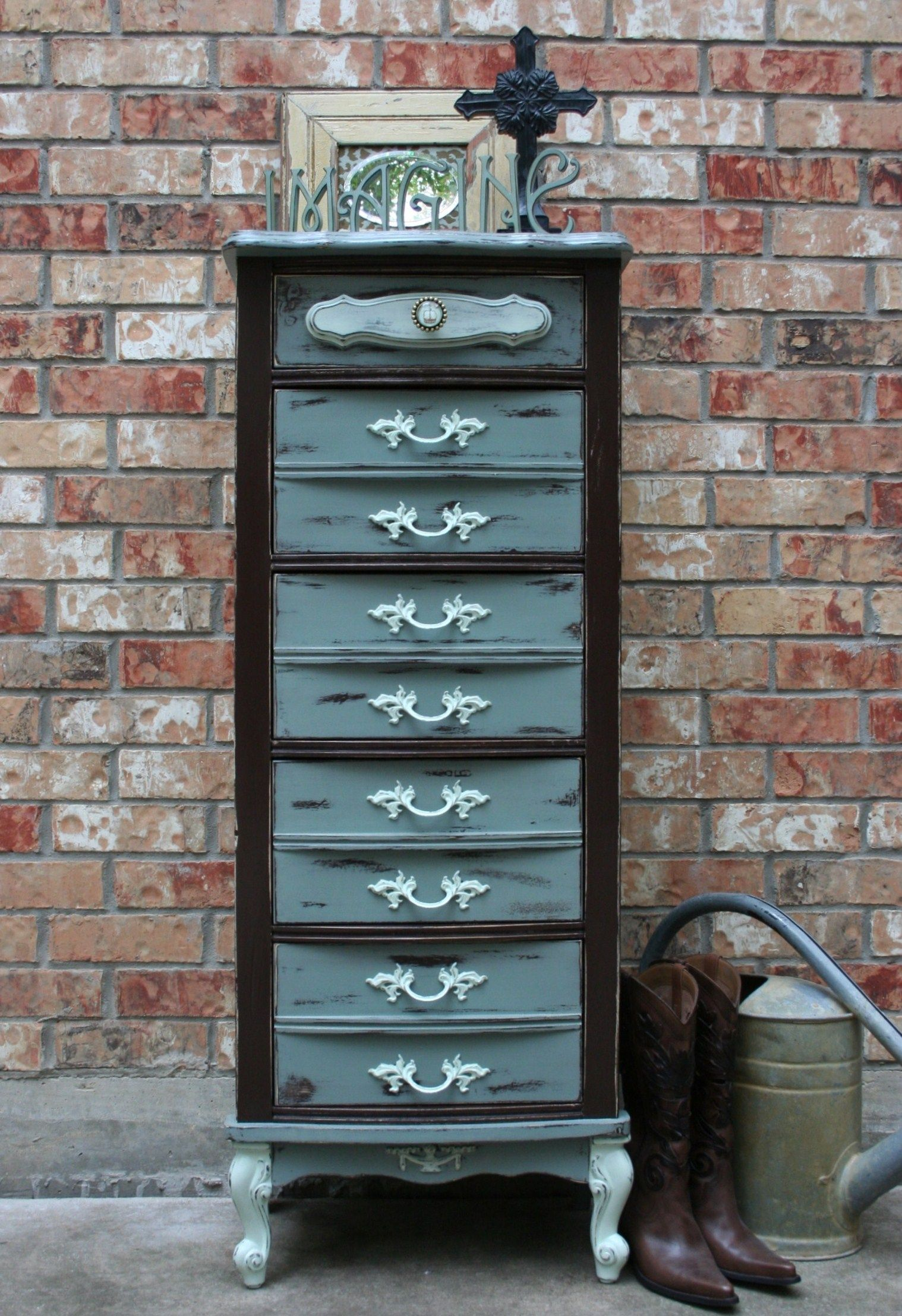 Best Blue And Brown French Provincial L*Ng*R** Chest 400 x 300
