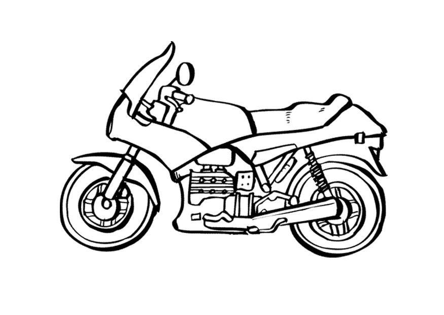 Malvorlage Motorrad Ausmalbild 9535 Malvorlagen für