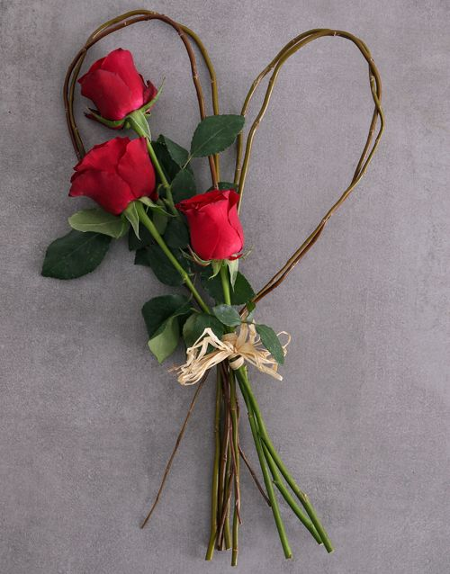 Small Red Rose Willow Heart Online