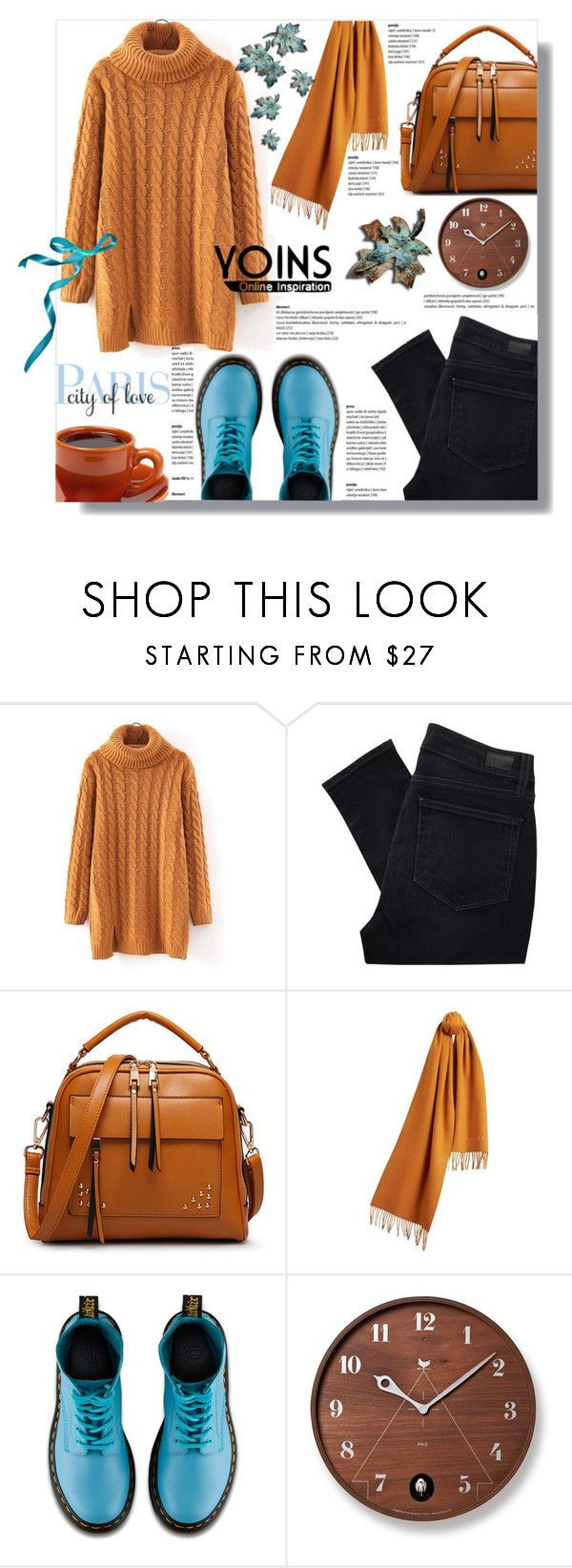 """""""Hijab"""" by sans-moderation ❤ liked on Polyvore featuring Paige Denim, Burberry, Dr. Martens, West Elm, hijab and yoins"""