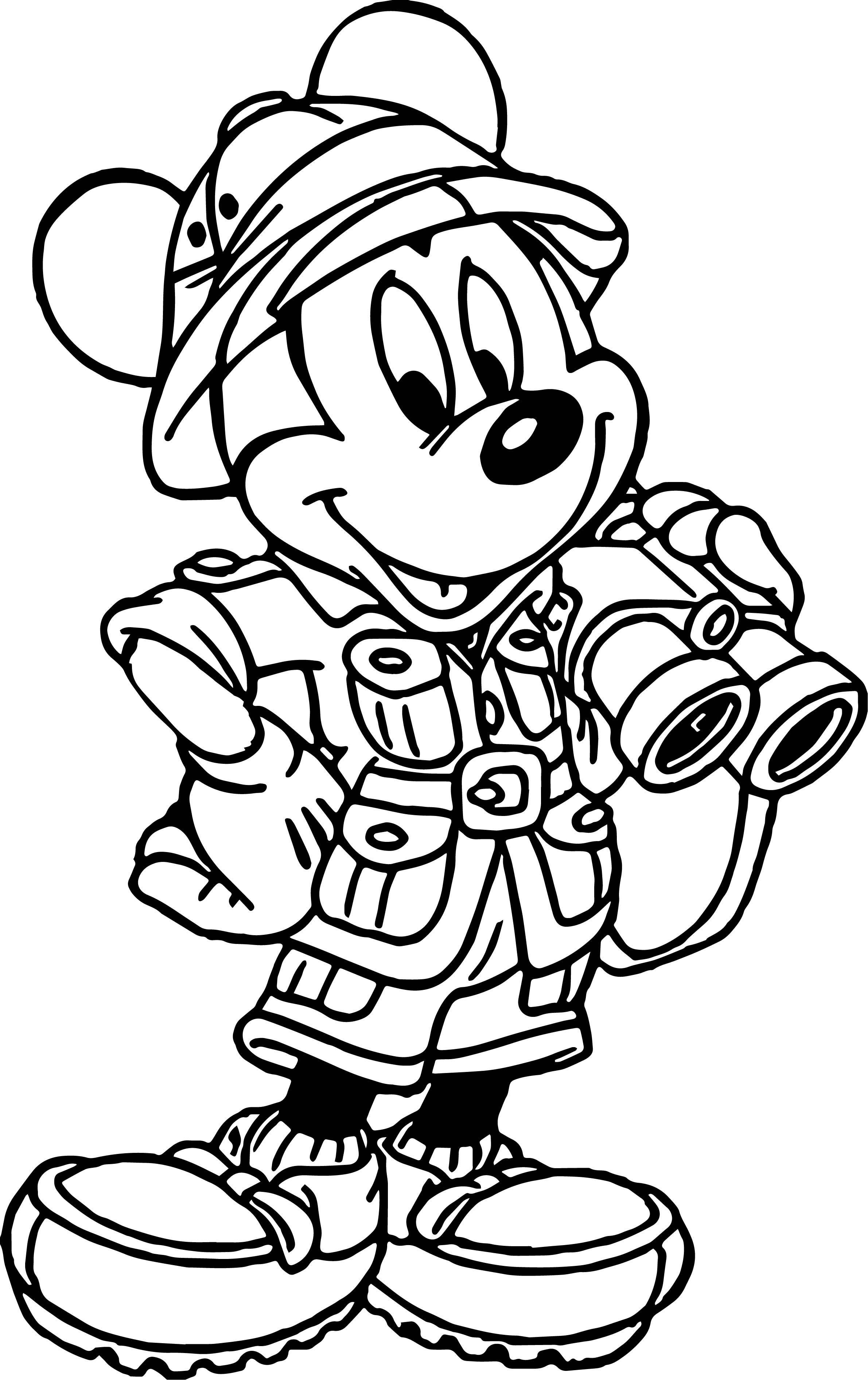 Mickey Mouse Cartoon Animal Kingdom Travel Coloring Page Animal Coloring Pages Mickey Mouse Coloring Pages Animal Kingdom Colouring Book