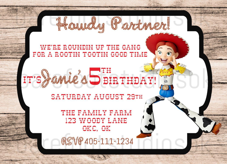 Toy Story Jessie Birthday Party Invitation 5x7 Digital by ...