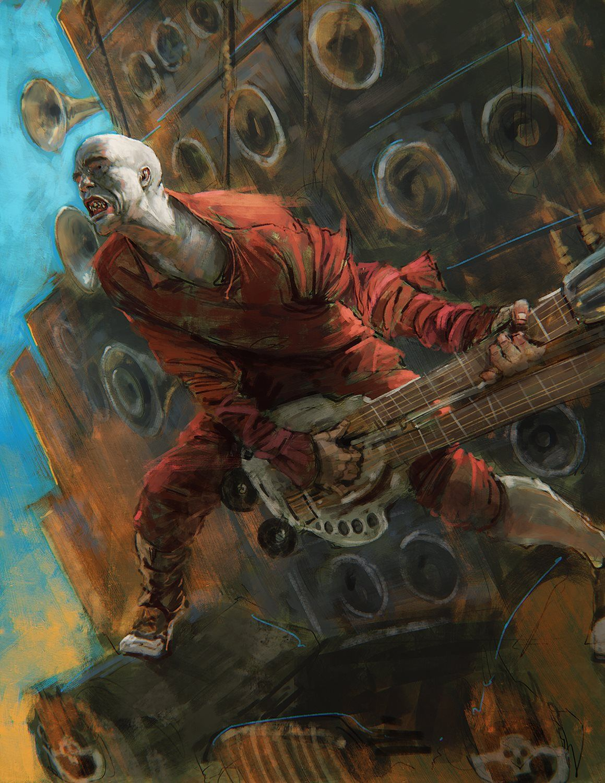 Mad Max Fury Road Flamethrower Guitarist By Daniel Landerman
