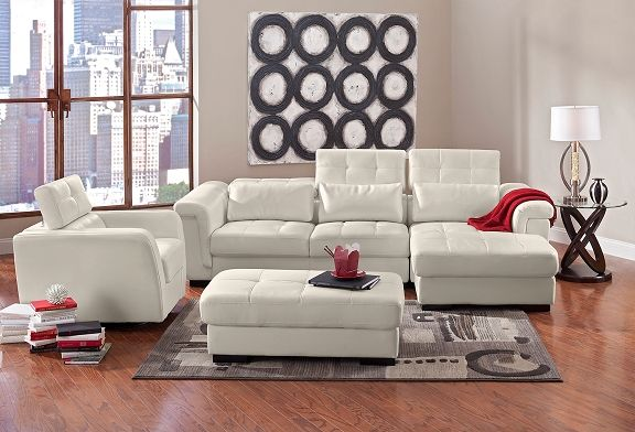 American Signature Furniture Domino II Leather Collection Pc - American signature sofas