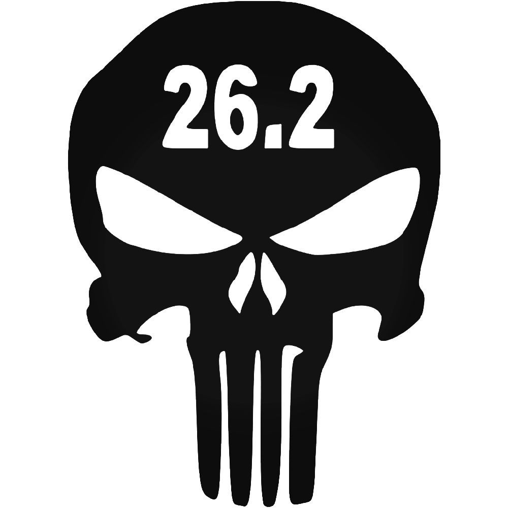 punisher skull marathon vinyl decal sticker aftermarket decals
