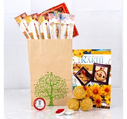 Rakhi Gifts Goodies Bag For Brothers
