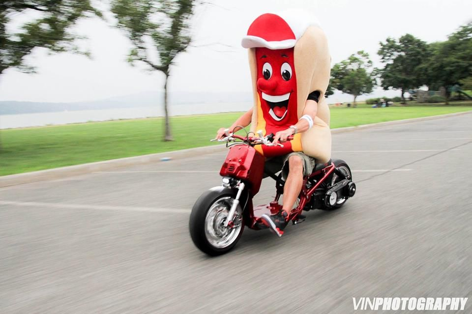 hot dog on a moped | mopeds | Motorcycle, Vehicles, Hot dogs