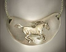 Wild Horse necklace Running Wild and Free