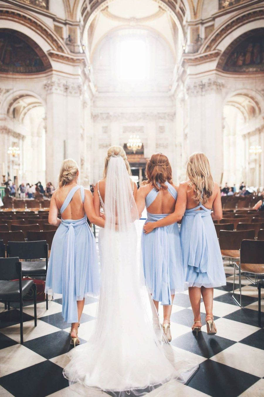 Powder Blue Twobirds Bridesmaid Dresses A Real Wedding Featuring Our Multiway Convertible Twist Wrap