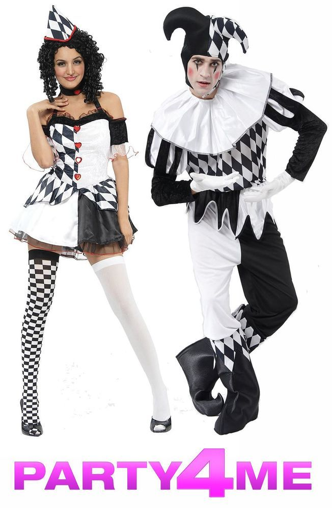 Mens Adult Colourful Court Jester Halloween Fancy Dress Costume Outfit M /& L