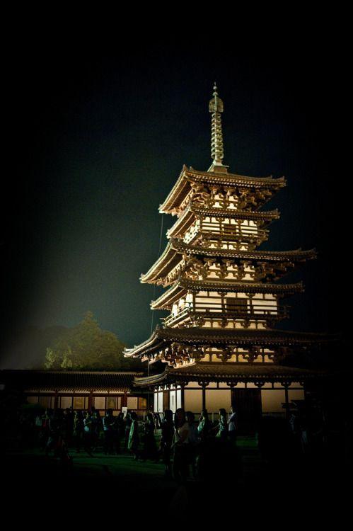 Yakushi-ji temple, Nara, Japan.  Photography by Jimi
