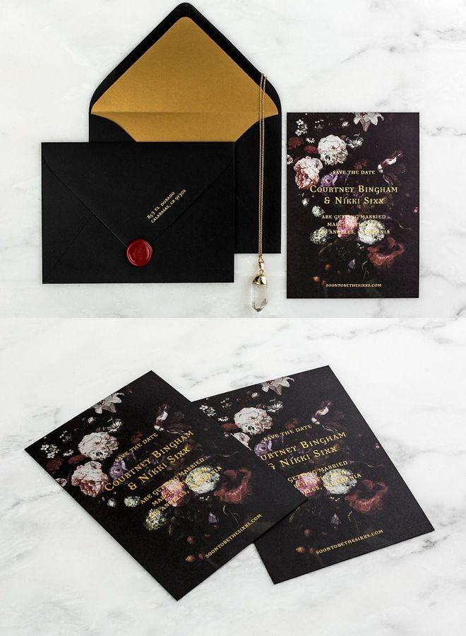 Striking Wedding Invitations Black Invitationswedding Invitation Kitsfl