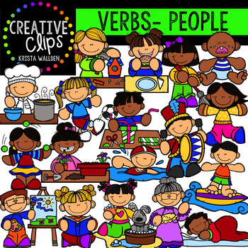 Verb Clipart People Actions Creative Clips Clipart Creative Clips Clipart Clip Art Compound Words