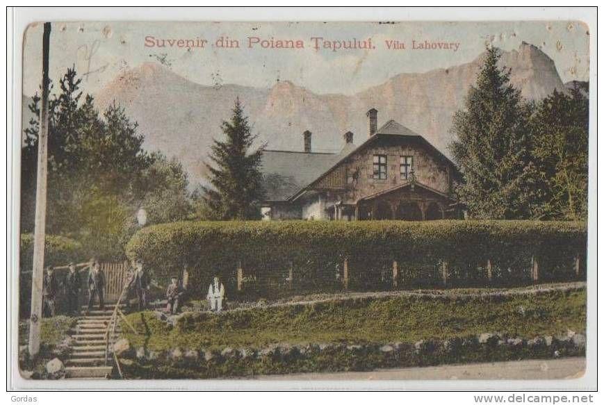 Poiana Tapului - Vila Lahovary - antebelica