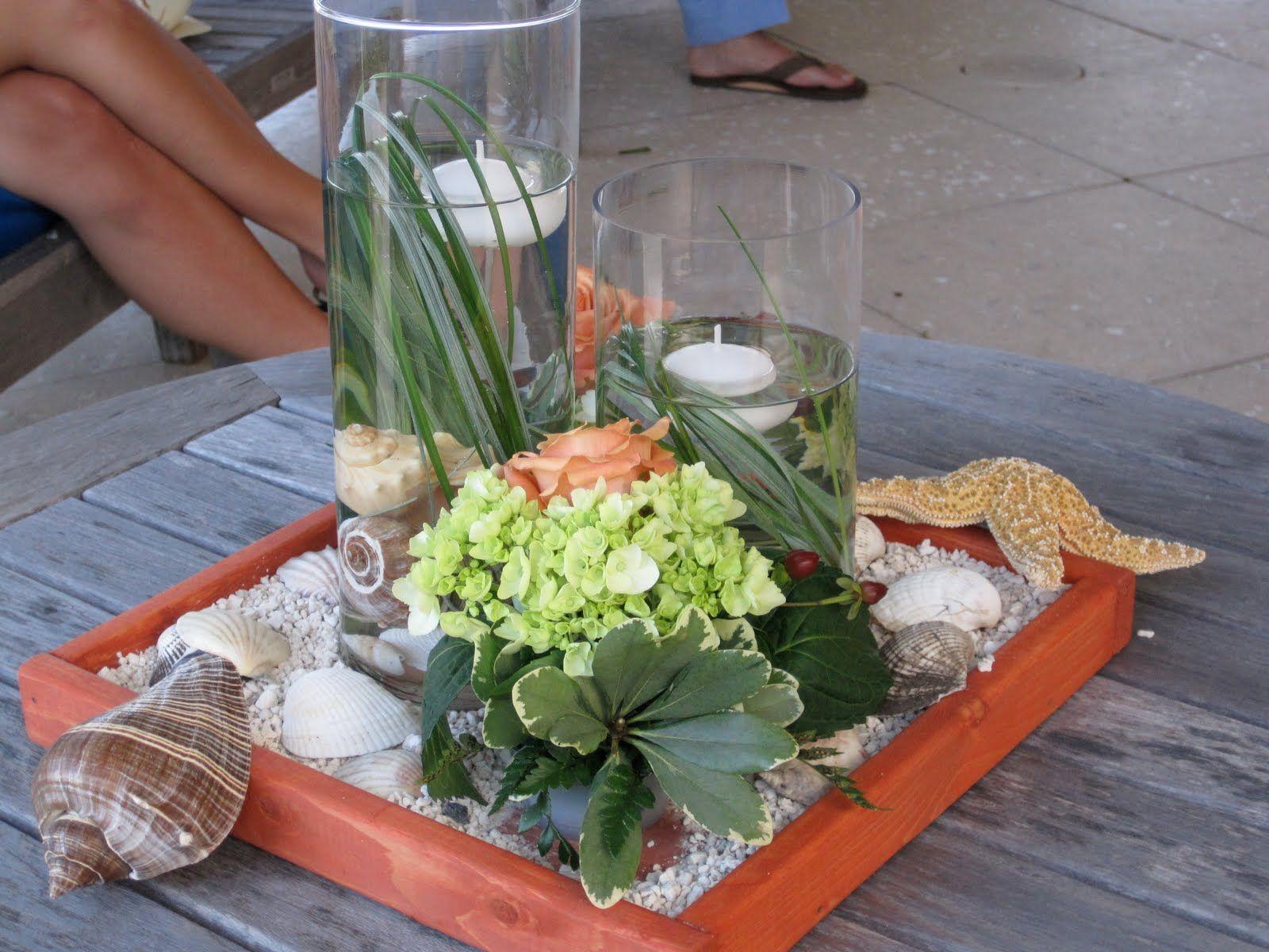 It Was Just Beachy Flower Arrangements Beach Theme Wedding Floristry Design