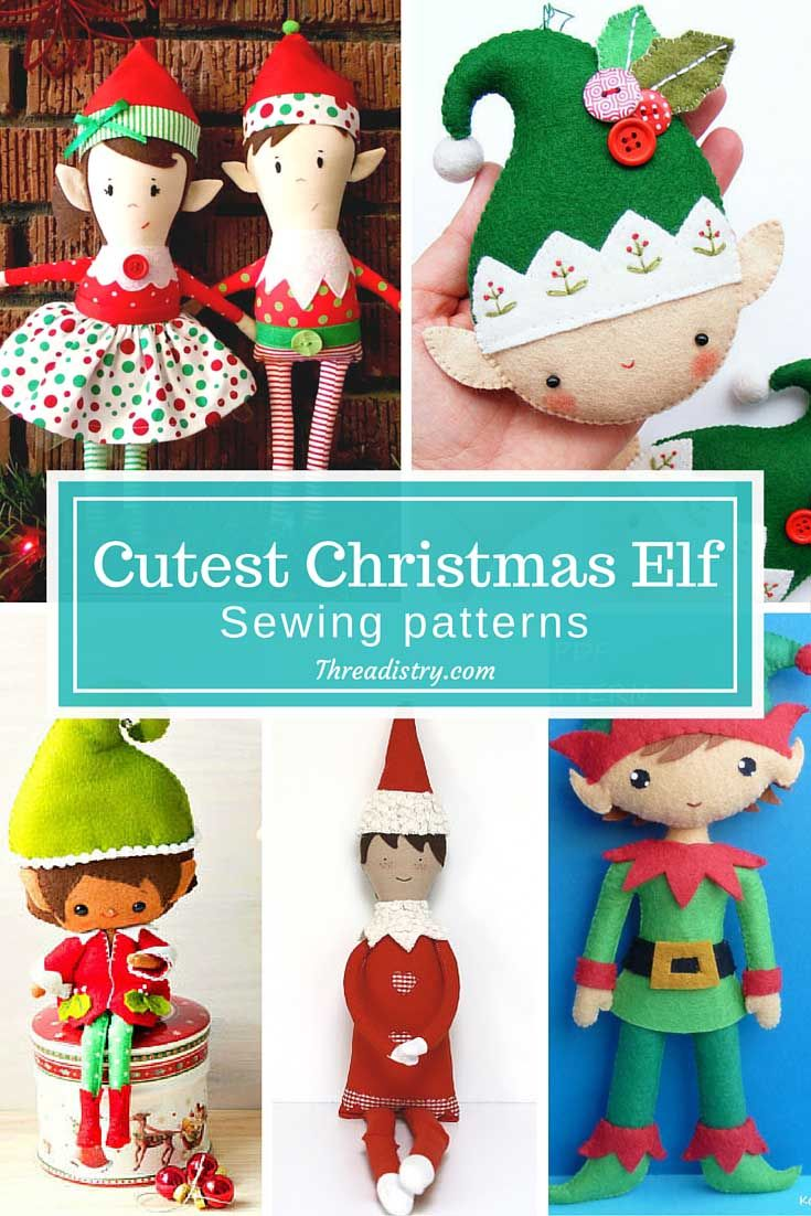 9 Cutest Christmas Elf Sewing Patterns Christmas Elf Doll Christmas Diy Sewing Christmas Sewing Patterns