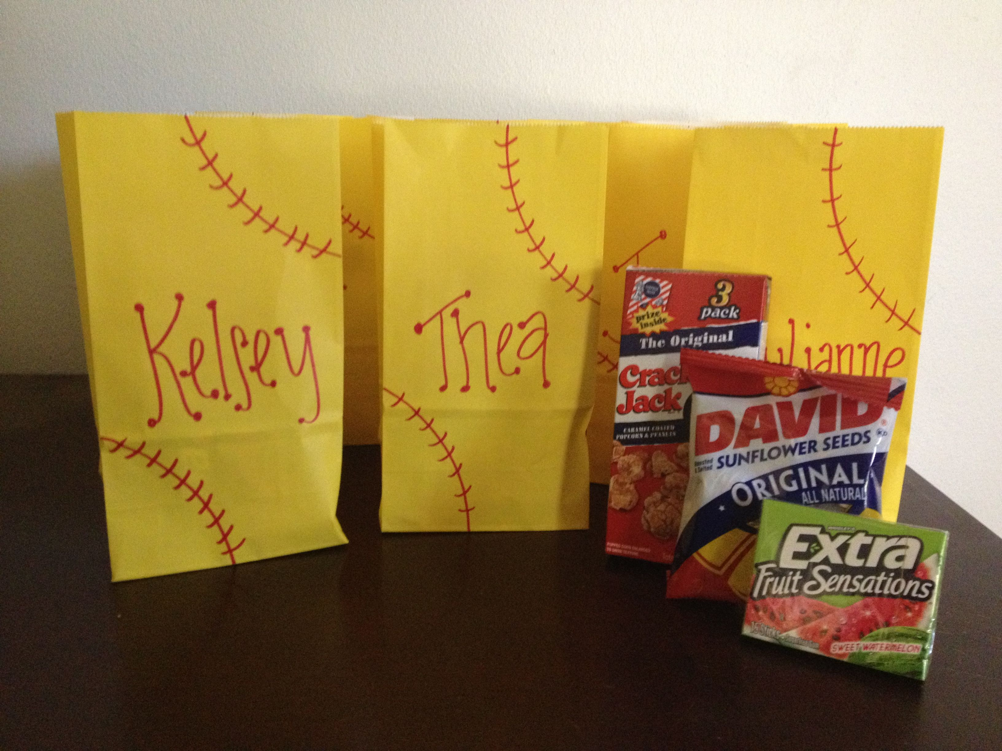 end of the year softball goody bags! | my own projects | softball