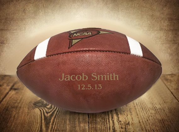 Personalized Football, Custom Engraved Football, Gifts for Men ...