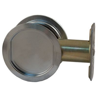 Round Pocket Door Hardware stone harbor hardware round pocket door latch finish: satin chrome