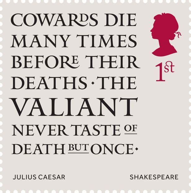 William Shakespeare gets stamp of approval from Royal Mail