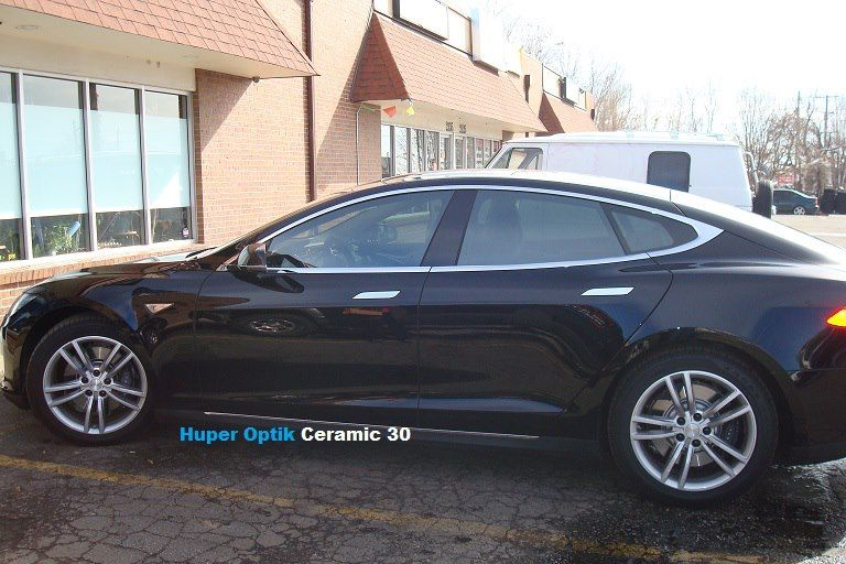 Tesla With Huper Optik Ceramic 30 Tinted Windows Save Fuel Bmw Car