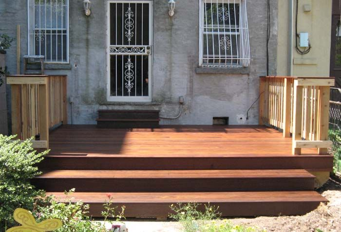 Backyard Ipe Deck Park Slope Brooklyn