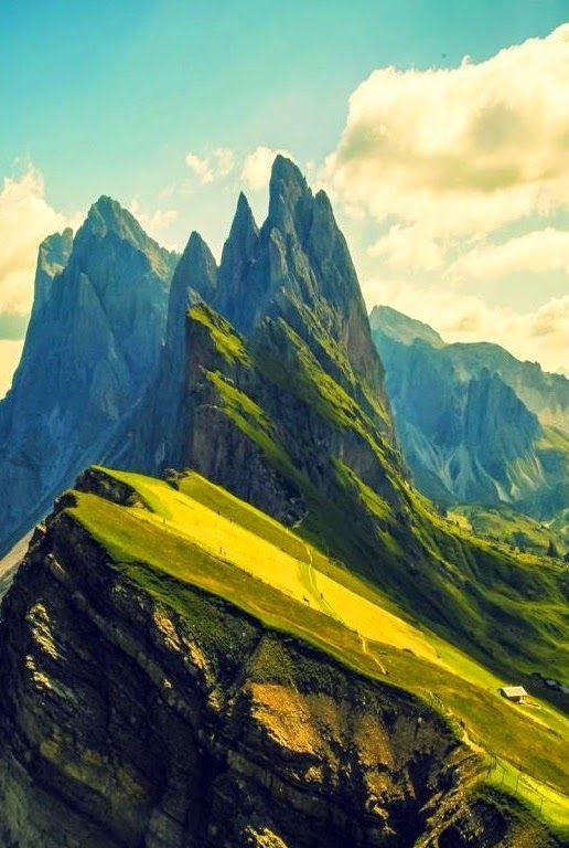 Odle Mountain, Dolomites,Italy - The Dolomites are a ...