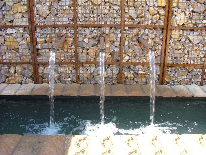 Muros ideas y otras aplicaciones asombrosas con gaviones Pool