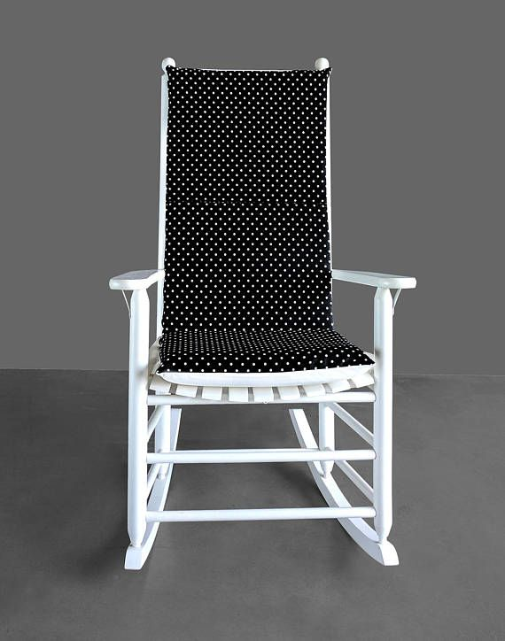 polka dot rocking chair cushions elderly chairs sale black white cushion nursery pinterest