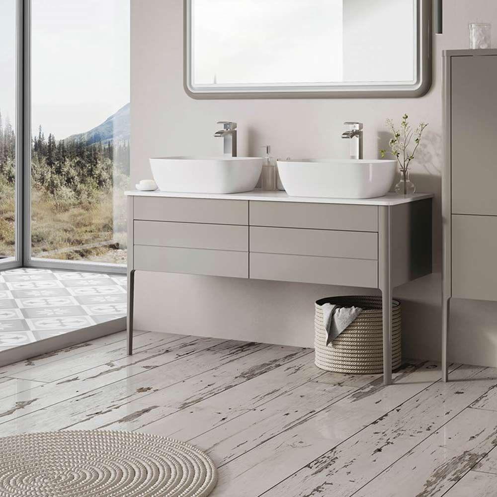 Harbour Serenity 1180mm Floorstanding Unit Worktop French Grey Vanity Units Bathroom Vanity Units Basin Vanity Unit
