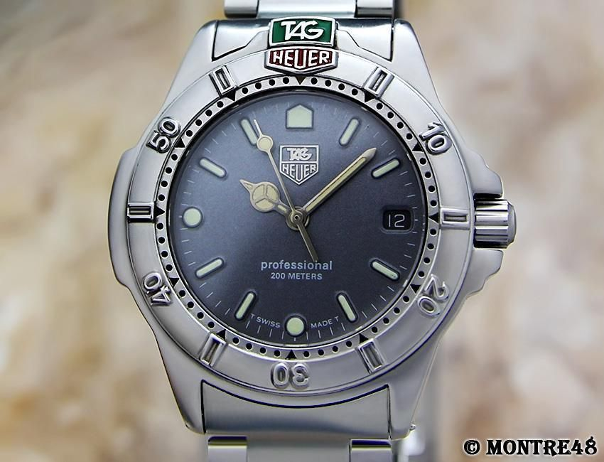 eb66416d27c Tag Heuer 999 213 Professional Swiss Made Mid Size 34mm Mens Sports Watch  AG107