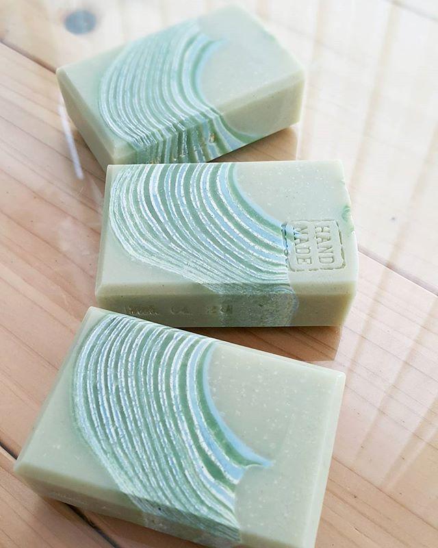 Green clay soap 그린클레이와 청대로 산뜻한 여름을 위한비누 #handmadesoap #naturalsoap #cpsoap #coldprocesssoap #artisansoap