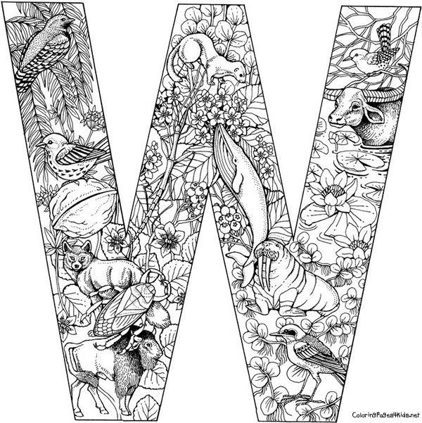 awesome alphabet coloring pages   Alphabets   Pinterest   Litera ...