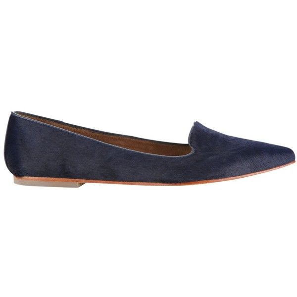 Jigsaw Cecile Flat Ballerina Pumps , Navy Calf Hair ($125) ❤ liked on  Polyvore featuring shoes, flats, navy calf hair, ballet flats, navy blue ballet  flats ...