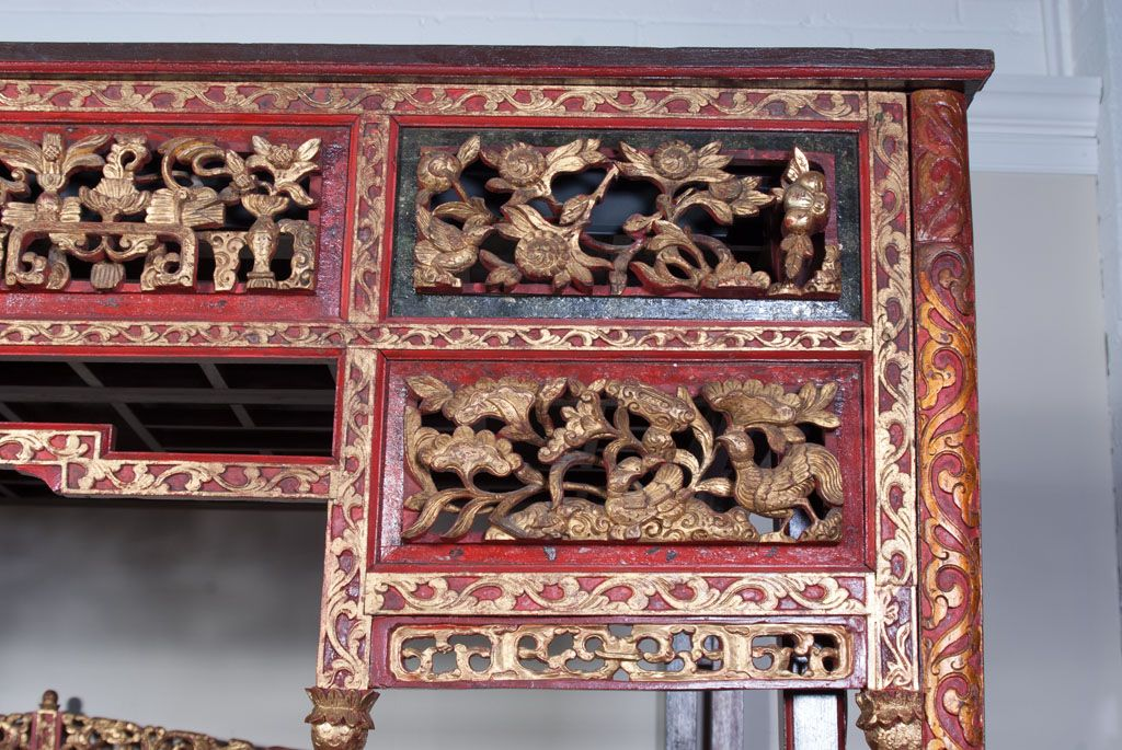 Chinese Wedding Bed Carved Wooden Pannels Wedding Bed