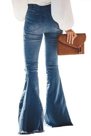 d325437c7b1 Sky Blue Distressed Bell Bottom Denim Pants #jeans #denim #jeansmurah  #jacket #