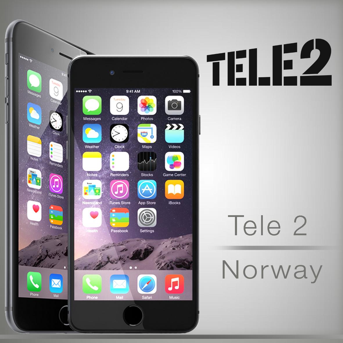 Unlock Tele2 Norway iPhone 6 Plus 6 5s 5c 5 4s 4 Unlock
