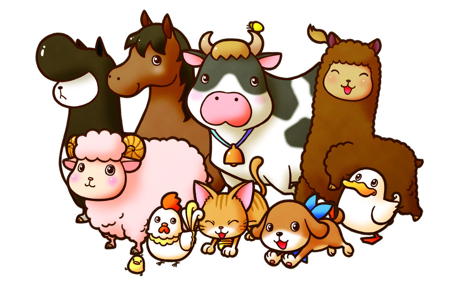 Hands On At E3 Harvest Moon A New Beginning 3ds Baby Farm Animals Animal Clipart Harvest Moon Game