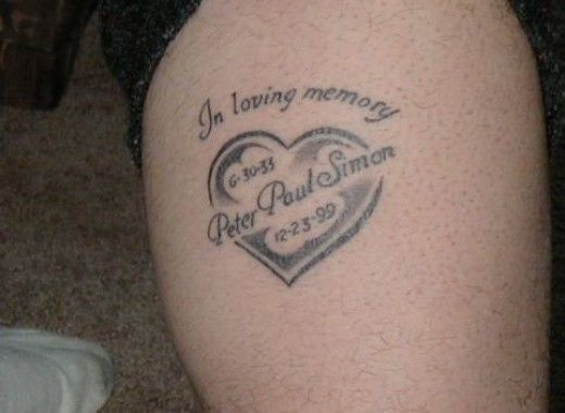 in loving memory memorial r i p tattoos tattoo tatting and tatoos. Black Bedroom Furniture Sets. Home Design Ideas