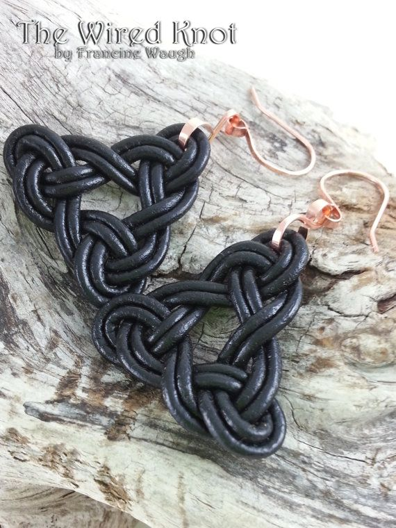 Celtic Trinity Knot Earrings by TheWiredKnot on Etsy, $30.00