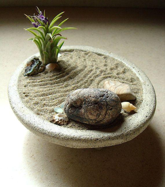Jardinera de hormig n tranquilo jard n zen y planta - Plantas para jardin zen ...