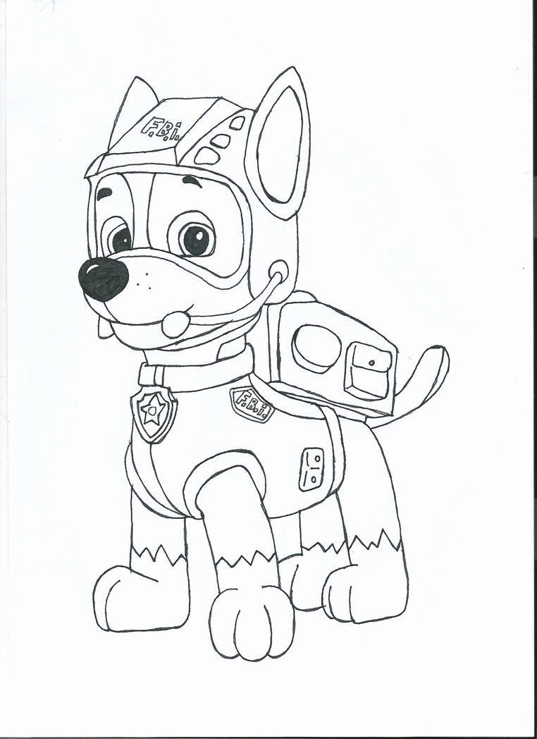 chase paw patrol coloring page luxury